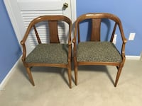 Two brown wooden framed gray padded armchairs Glastonbury, 06033