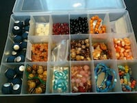 Assorted Jewelry Beads ( 2 trays)