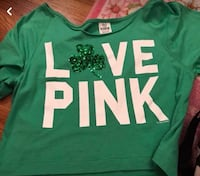 green and white Pink by Victoria's Secret shirt Chester, 23831