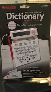 Merriam-Webster Dictionary Reading Companion/PAGEMARK EDITION.  Seat Pleasant, 20743