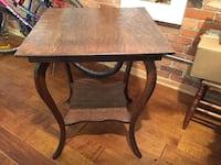 Antique oak / Rectangular brown wooden side table Toronto, M5A
