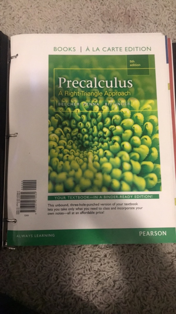 PreCalculus A Right-Triangle Approach 5th Edition