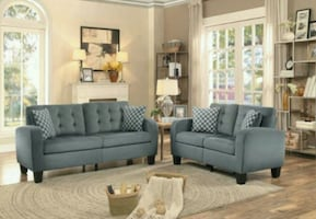 Sinclair Gray 2 piece  Living Room Set