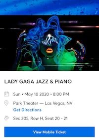 Two Tickets to Lady Gaga in Vegas!