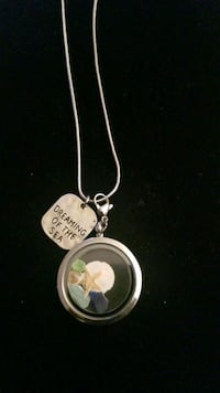 Sterling silver necklace with charm by Beach Charmed Hyattsville, 20784