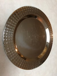 Platter Silver Metal 12 inches  Surrey