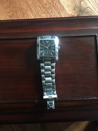 square silver analog watch with link bracelet Hamilton, K9A 4J9
