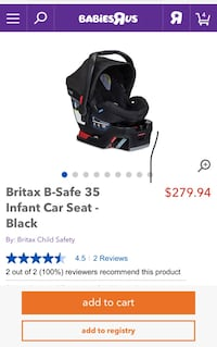 Black and purple graco car seat carrier screenshot Montréal, H4L
