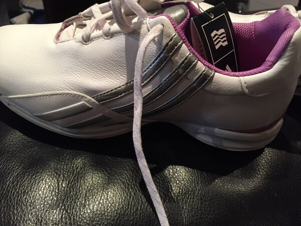 Adidas new shoes never worn, size 6 1/2. 76db7491-19c0-46a5-87ce-2b7fc5a962bd