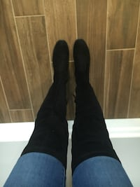 Black over the knee boots  London