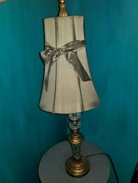 brass base table lamp with white lampshade Macon, 31220