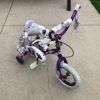 toddler's purple and white bicycle with training wheels London, N6G 5R6