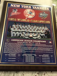 1998 new york yankees world series champions plaque Wantagh