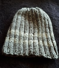 gray and white knitted beanie cap Victoria, V8X 2W6