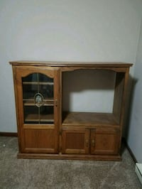 brown wooden TV hutch with cabinet Charleston, 61920