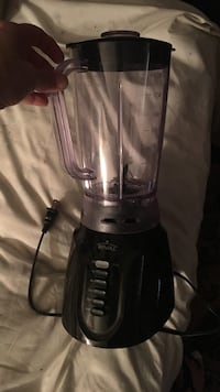 black and gray Rival blender