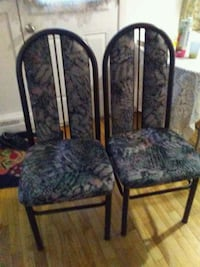 black and gray floral padded chair Montréal, H1T 1J4