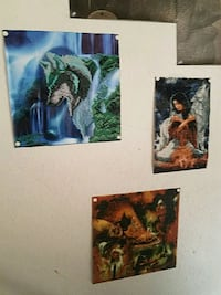 three assorted color abstract paintings Denver, 80206