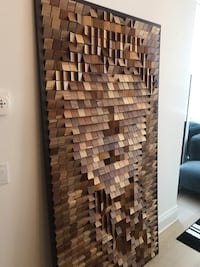 Wooden Malaysian one of a kind art ,Abstract face image   Toronto, M5R 2J1