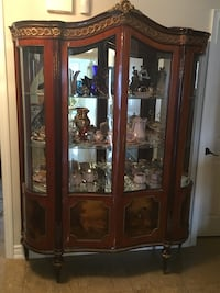Antique large china cabinet