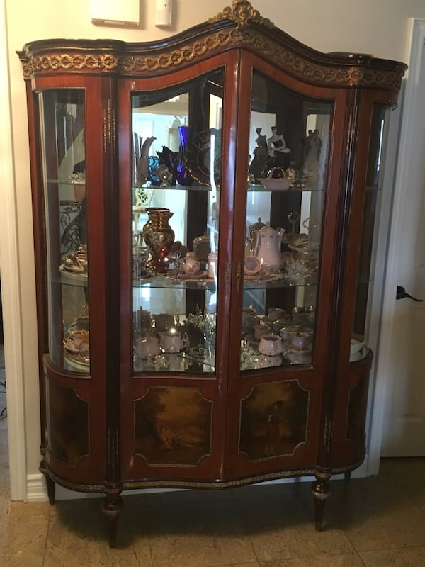 Antique large china cabinet 0