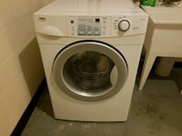 white and gray front load washing machine Vancouver, V5M 3X7