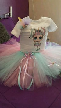 girl's white and teal tutu dress Sunland Park, 88063