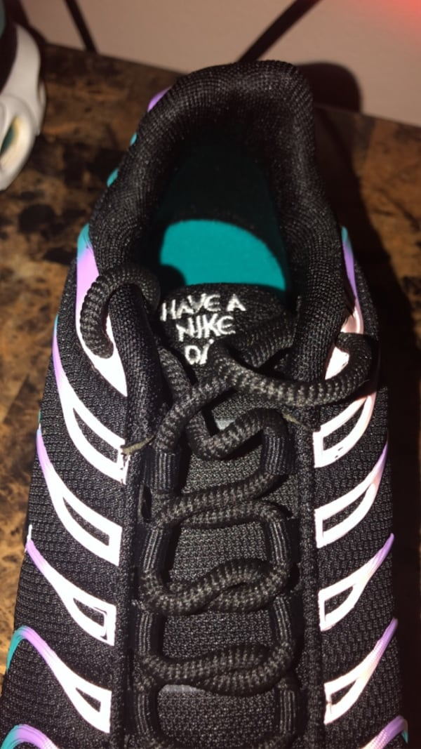 Used Black Blue Pink Purple Nike Air Max Plus For Sale In New