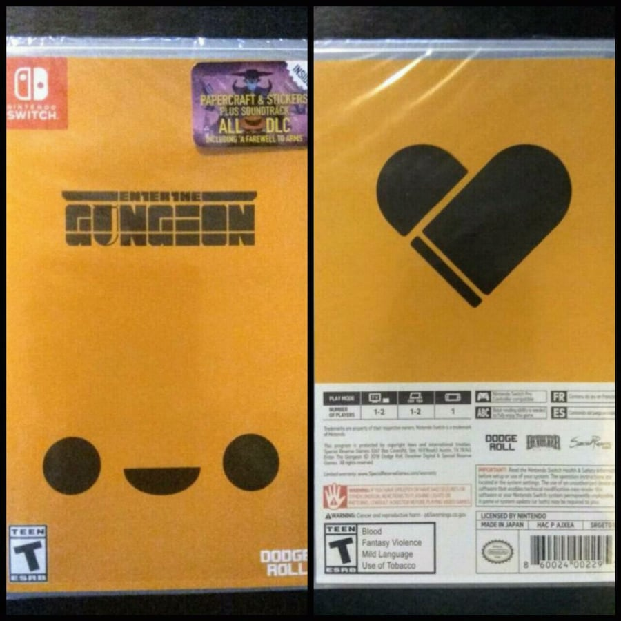 SEALED! Enter the Gungeon Nintendo Switch PHYSICAL EDITION w/ free DLC