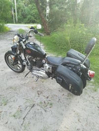 black and gray cruiser motorcycle St. Augustine