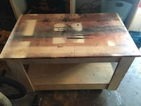 rectangular brown wooden coffee table Calgary, T1Y 4W6