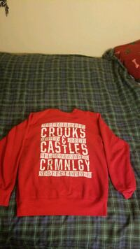 BRAND NEW ! Crooks and castles criminology hoodie / sweater 35 obo