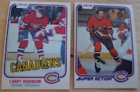 2 Larry Robinson Cards... $5 Firm Together... Calgary