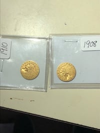 Over 100 years old gold coins