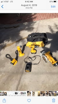Handy Man Tools DeWALT in Good  Conditions / with Charger & Tool Bag.
