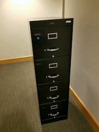 black metal 4-drawer filing cabinet Alexandria, 22314
