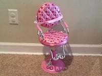 Pink and white polka dotted chair Maple Grove, 55369