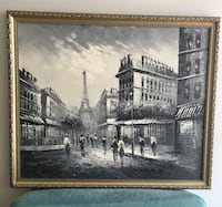 brown wooden framed painting of city Vaughan, L4H 3L3
