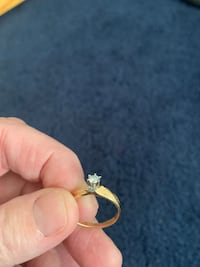 14 kt gold diamond ring.. diamond is small Rockland, 02370