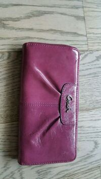 pink Coach leather wallet