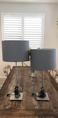 Table Lamps Adjustable Height Gray Shade Westminster, 92683
