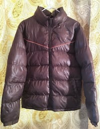 CPS LARGE BROWN ZIP UP BUBBLE JACKET WITH POCKETS Broomall