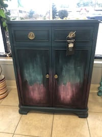 Painted Record Player Cabinet