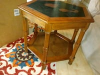 brown wooden framed glass top table Haleyville, 35565