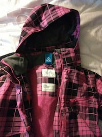 red and black plaid Firefly zip-up hoodie jacket