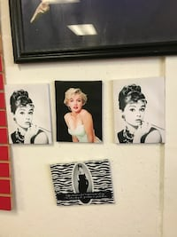 two black and white Audrey Hepburn paintings Bessemer, 35020