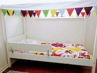IKEA Kid's Bed with tent cover