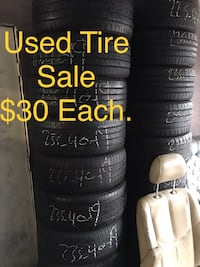 Used tire sale $30 each any size  Sacramento, 95815