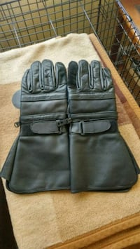 """LEATHER"" MOTORCYCLE GLOVES / XL"