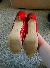 pair of red leather flats Virginia Beach, 23464